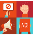 protest signs vector image