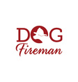 dog fireman vector image