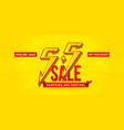55 sale 55 online sale flash model number vector image vector image