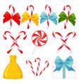 9 colorful cartoon christmas elements set vector image