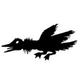 angry duck stencil vector image vector image