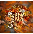 Autumn sale hand lettering and doodles elements vector image vector image