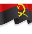 Background with waving Angolan Flag vector image vector image