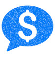 bank message grunge icon vector image vector image