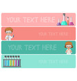 banner templates with kids in science lab vector image vector image