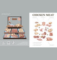 butcher shop colorful concept vector image