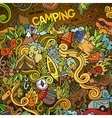 Cartoon hand-drawn doodles camp vector image vector image