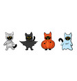 cats in halloween costumes vector image