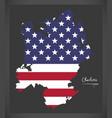 charlotte north carolina map with american vector image
