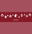 christmas decoration with paper cut hanging vector image