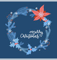 christmas greeting card with winter plants vector image