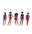 collection female body types vector image vector image