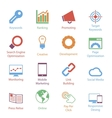 Color Internet Marketing Icons Vol 1 vector image vector image