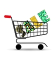 Concept of discount Shopping cart with sale vector image