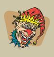 crazy clown clipart vector image vector image