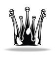 crown black and white king queen 18 vector image