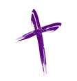 crucifix cross brush strokes symbol design vector image