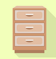 drawer nightstand icon flat style vector image vector image