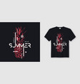 endless summer t-shirt and apparel modern design vector image vector image