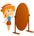 fashion girl with mirror vector image vector image