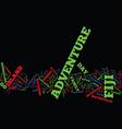 fiji adventure text background word cloud concept vector image vector image