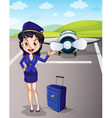 Flight attendant vector image