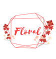 floral flower geometry frame white background vect vector image vector image