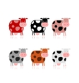 Funny cow collection for your design vector image