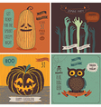 Halloween Cards set - hand drawn style vector image vector image