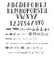 hand drawn typeface vector image vector image
