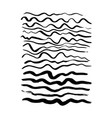 hand drawn wave brush strokes vector image vector image