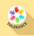 hand people tolerance logo flat style vector image