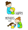 happy mother day postcard on white vector image vector image