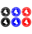 iraq rubber stamp vector image