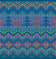 knitted christmas and new year pattern vector image