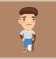 leg fracture guy vector image