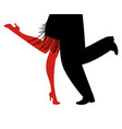 legs of woman and man wearing retro clothes vector image vector image