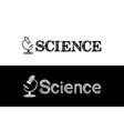 logo for science school subject vector image vector image