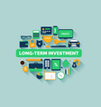 long-term investment vector image
