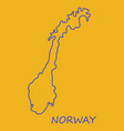 map of norway filled with flag of the state vector image vector image
