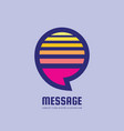 message - speech bubbles logo concept vector image vector image