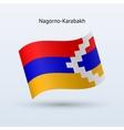 Nagorno-Karabakh flag waving form vector image vector image