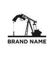 oil mine logo design vector image