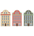 old european city houses colored vector image vector image