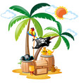 parrot standing on pirate bird vector image