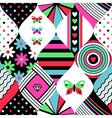pop pattern patchwork vector image