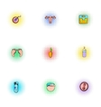 Pregnancy icons set pop-art style vector image vector image