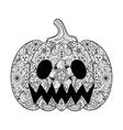 pumpkin hand drawn halloween vector image