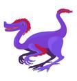purple dinosaur icon cartoon style vector image
