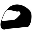 racing helmet the black color icon vector image vector image